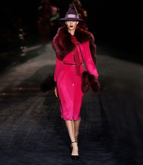 Hat, Outerwear, Style, Runway, Fashion show, Fashion model, Street fashion, Fashion, Costume accessory, High heels,