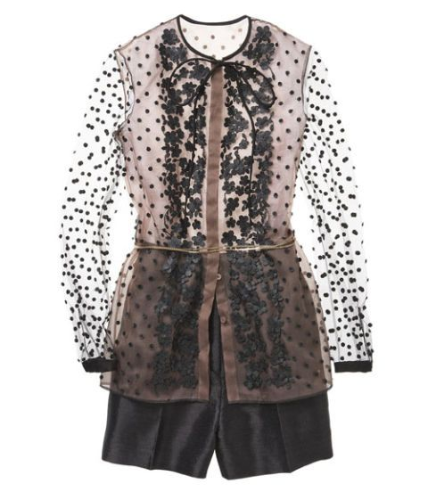 50 star pieces for spring valentino belted top and shorts