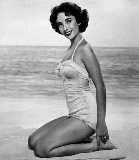 elizabeth taylor on beach