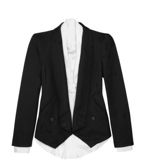 blazer and shirt