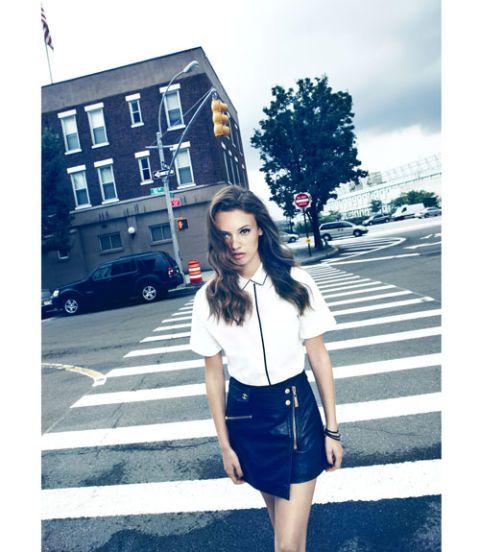 model crossing street