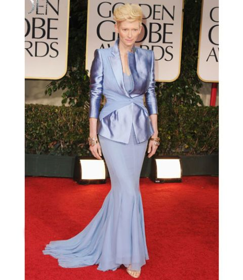 tilda swinton golden globes 2012