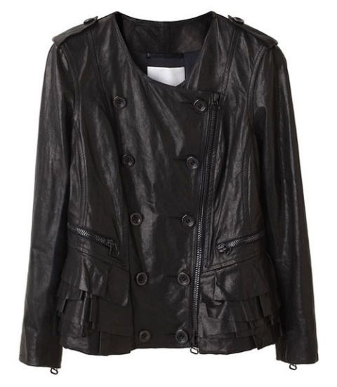 Phillip Lim ruffled leather jacket