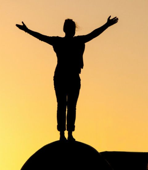 Human body, Standing, Happy, Rejoicing, People in nature, Silhouette, Sculpture, Balance, Backlighting, Gesture,
