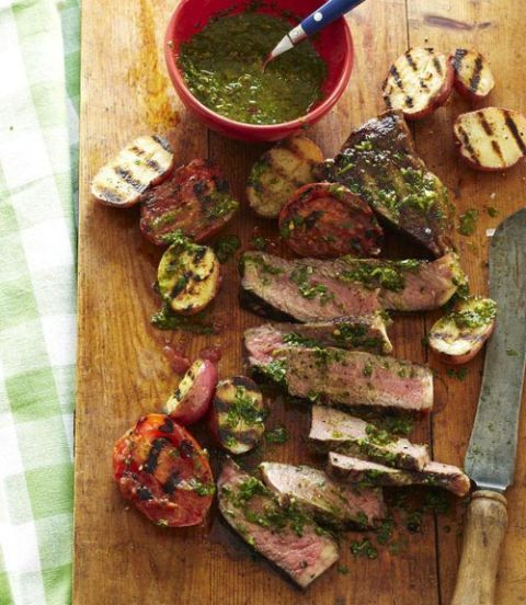 steak with argentine herb sauce