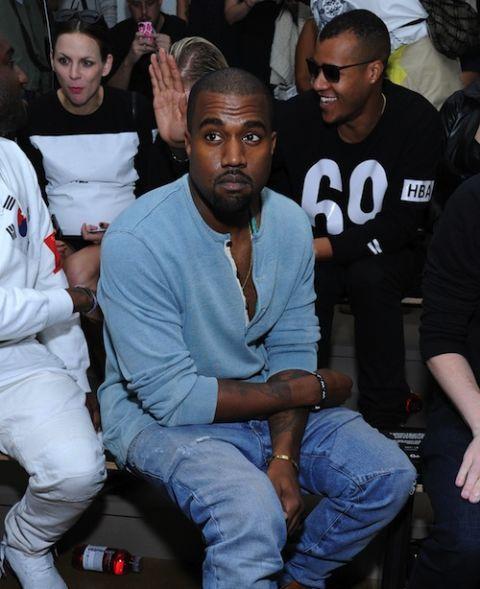 cbf61ed33f Kanye West New York Fashion Week Spring 2014 - Kanye West at the ...