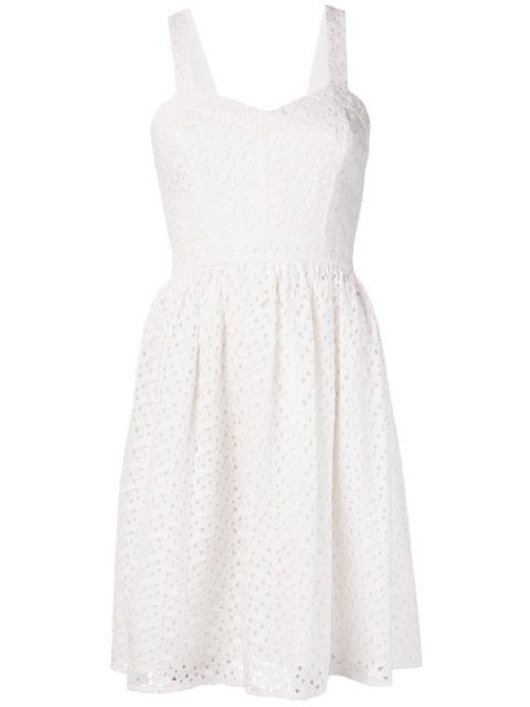 Product, Dress, Sleeve, Textile, White, One-piece garment, Pattern, Formal wear, Style, Day dress,