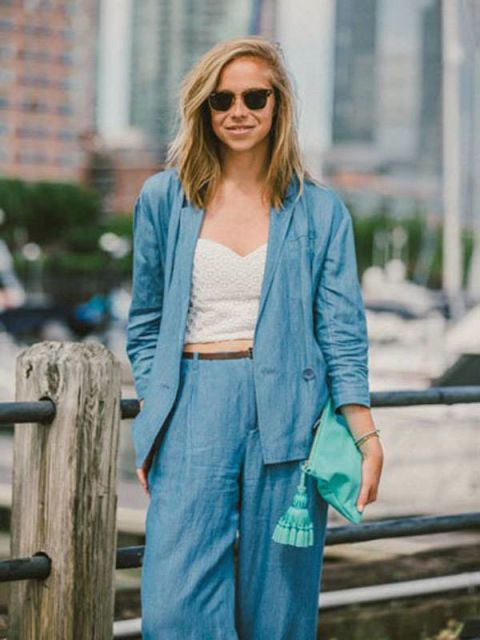 Glasses, Green, Sleeve, Textile, Sunglasses, Outerwear, Denim, Teal, Style, Turquoise,