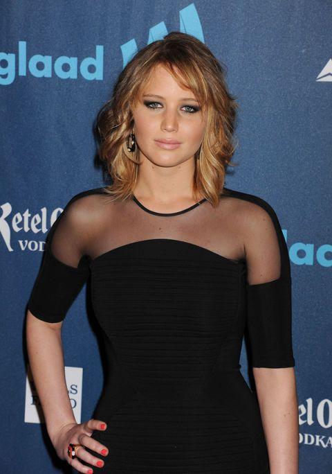 Fab New Hair Alert: Jennifer Lawrence's Asymmetrical Bob