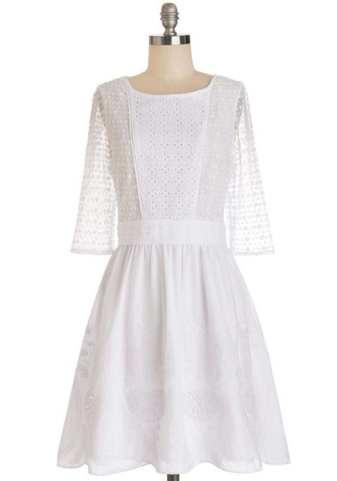 Clothing, Product, Sleeve, Shoulder, Textile, Dress, White, One-piece garment, Style, Pattern,