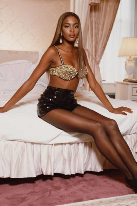 Naomi Campbell Naomi Campbell was discovered at age 15 while studying ballet at the the Italia Conti Academy of Theatre Arts in London. Her pyramid cheekbones, towering physique, and entrancing almond-shaped eyes were unparalleled.