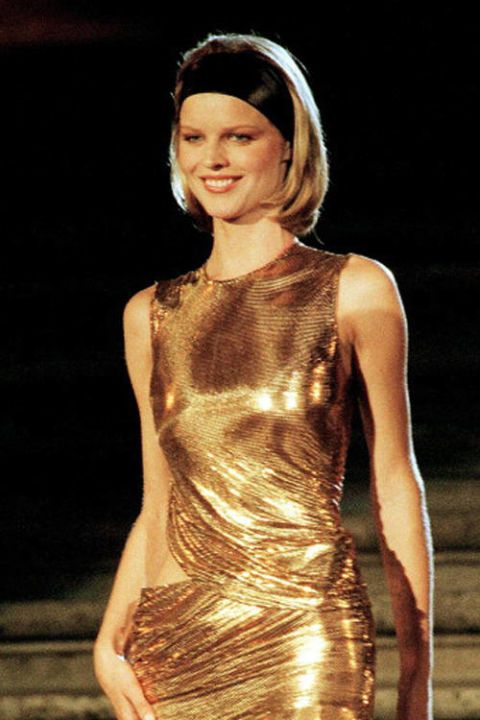 Eva Herzigová Eva Herzigová's career began when she won a modeling contest in Prague at 16. She was known as the Marilyn Monroe of the '90s and appeared in Sports Illustrated , as well as high profile campaigns for H&M, Guess, and Agent Provocateur.