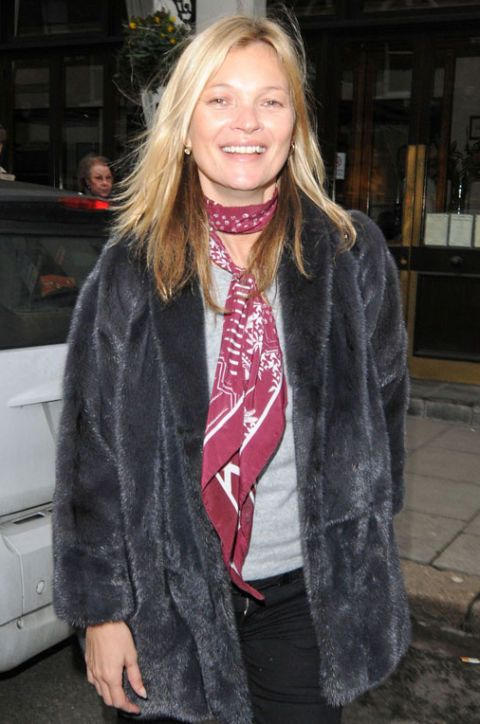How to Style a Rock 'n' Roll Scarf Like Kate Moss