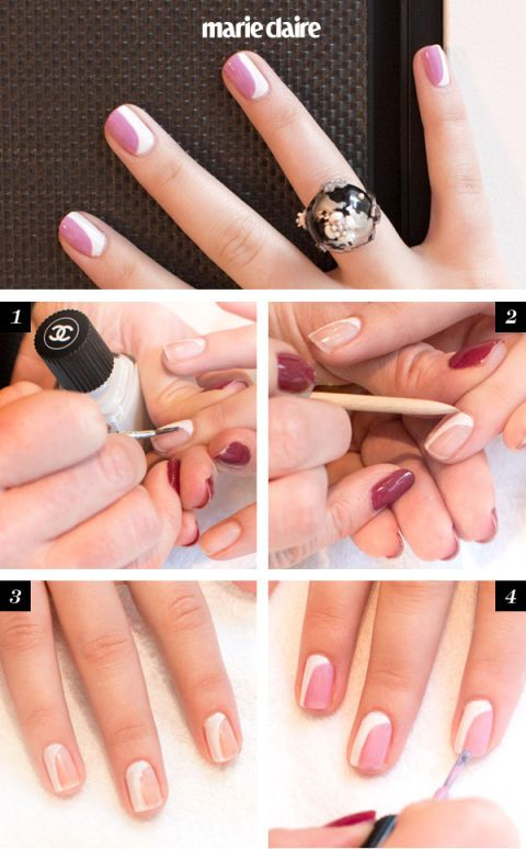 Chanel Nail Art How–To: The New French Manicure