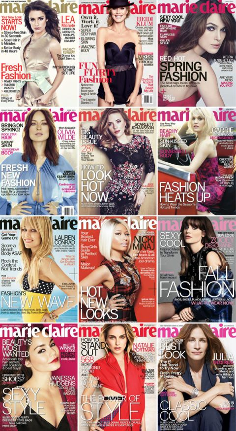 The Year in Marie Claire Covers