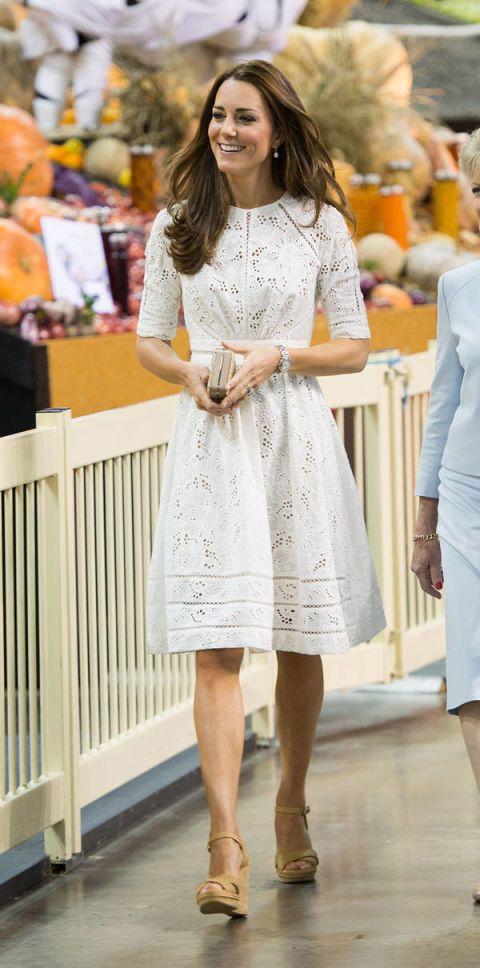kate middleton white eyelet dress
