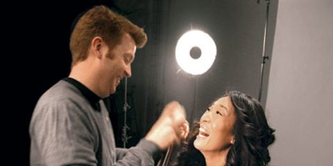 Behind The Scenes at the Marie Claire Cover Shoot With Sandra Oh