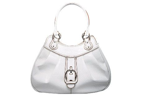 white nine west purse