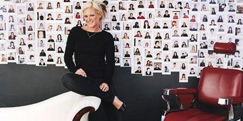 woman in salon