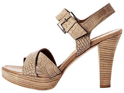 crocodile skin sandal