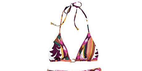 bright colored bikini