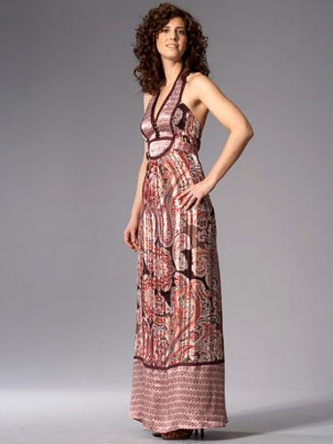 woman in pink maxi dress