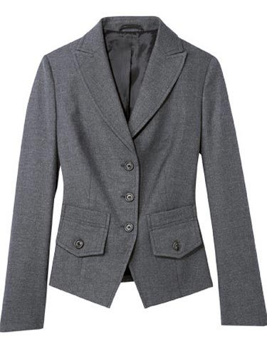 gray benetton blazer