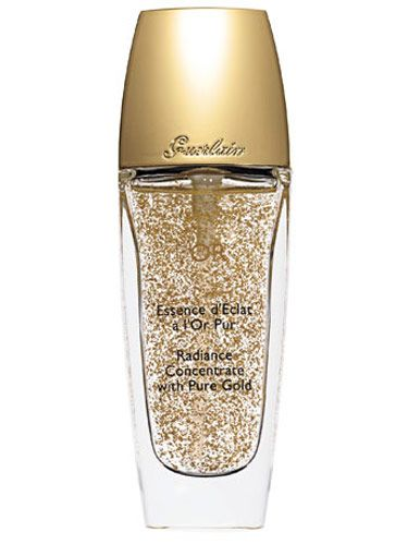MIDAS TOUCHED:  Brighten skin with Guerlain L'Or, a 24-karat-gold-infused radiance gel, $68.