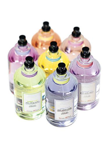 My Chemist's Romance: Stuck in town with island fever? Splash on any one of GapBody's new Bath + Skin scents, whose tropical-colored infusions come in sleek, modern apothecary bottles. Occasionally, I like to mix light scents; IslandHop, a sweet infusion of coconut water and hibiscus, and SugarSnap, which smells of fresh pear flower and musk, really go great together.