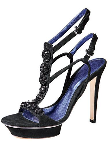 black sergio rossi high heel sandal