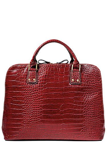 red worthington bag
