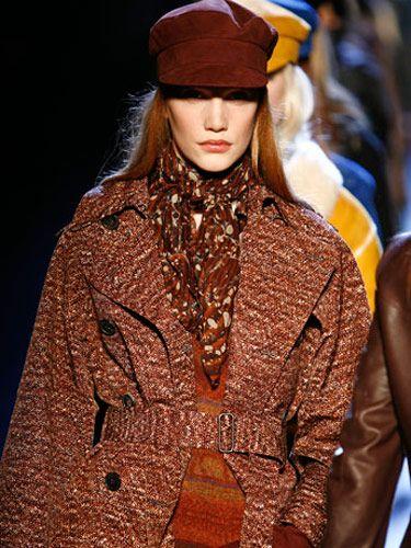 model in coat