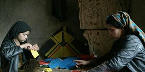 Marzia with daughter Noyi - kite makers of Kabul.