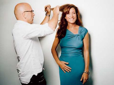 """I love a stunning redhead,"" says celeb hairstylist Robert Vetica. ""I went for modern, fresh, and undone."""