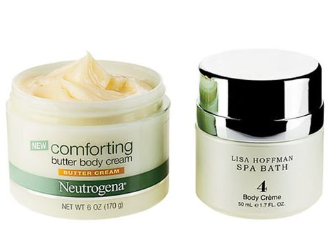 jars of neutrogena butter body cream and lisa hoffman spa bath body creme