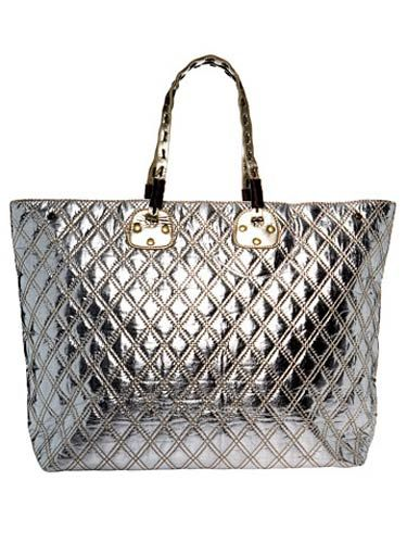 silver quilted bag by nicole lee