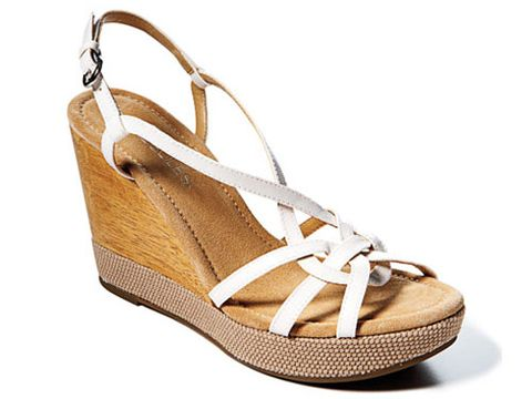 white wedge sandal by aerosoles