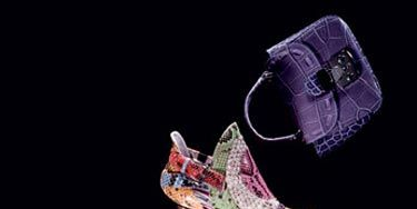 animal skin inspired purses and shoes from the spring 2008 runways