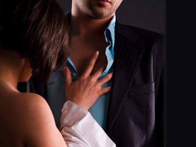 Mans woman chest touching LovePanky