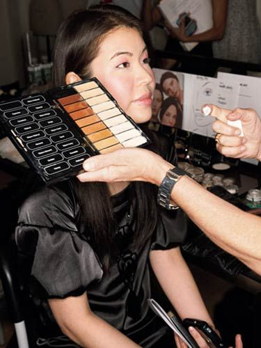 marie claire's ning chao getting a model makeup makeover
