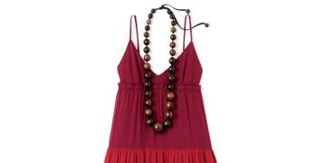 Maintain the '70s vibe with chunky beads, funky shoes, and bags that look handcrafted.