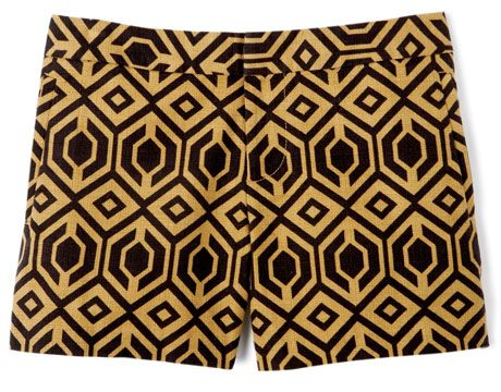 geometric print yellow and black shorts from tommy hilfiger