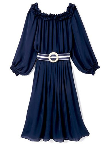 Belted Dress, <b>$380</b>, Tommy Hilfiger; (646) 638-4812.