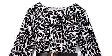 black and white isaac mizrahi dress from target
