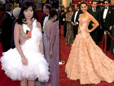bjork in her swan dress at the 73rd annual academy awards