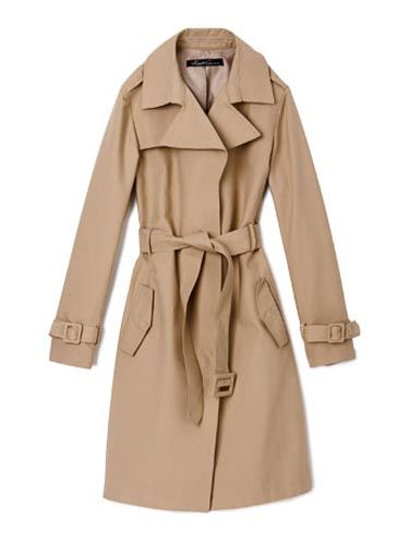Gorgeous trench coats, bright skirts and crisp shirts.