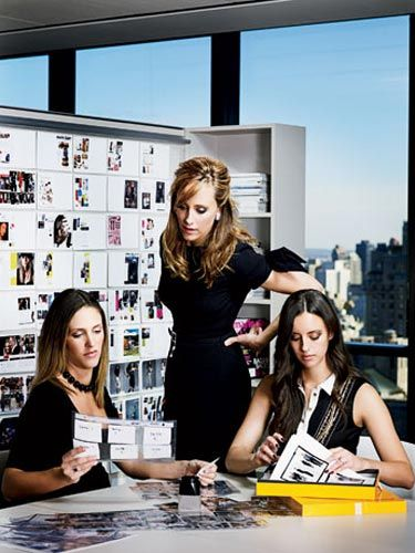 marie claire's art department selecting photos with photo editor kristen schaefer