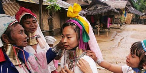 long necked women of thailand