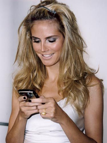 heidi klum behind the scenes of the marie claire cover shoot