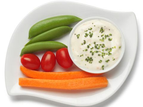 sticks and dip, carrot, celery sticks